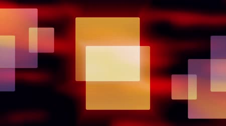 Futuristic video animation with moving square objects