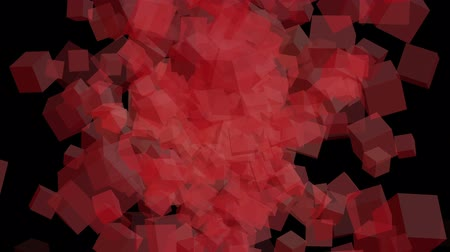coloured background : Futuristic video animation with moving cubes Stock Footage