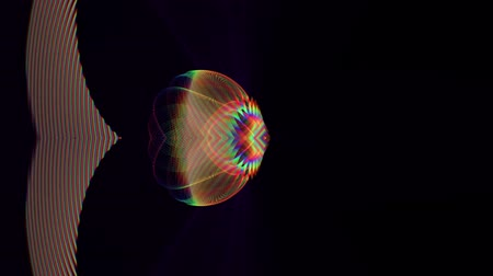 elementler : Futuristic loop video animation with moving object