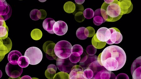 motive etmek : Wonderful loop video animation with moving bubbles and lights
