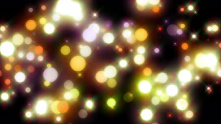 video effects : Wonderful loop video animation with moving bubbles and lights