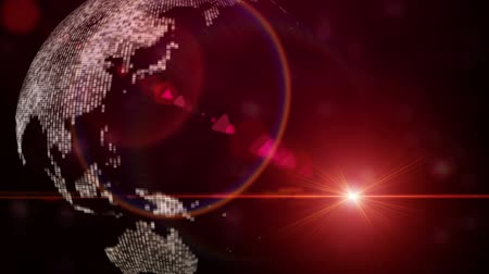 fantazja : Technology animation with continents and lights, loop HD 1080p Wideo