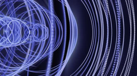 lendület : Futuristic technology video animation with moving object and lights, loop HD 1080p