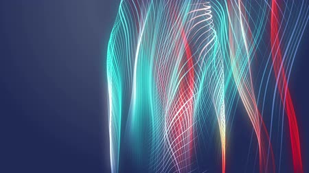 flowing lines : Wonderful video animation with moving particle wave object, loop HD 1080p Stock Footage