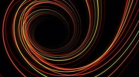 dinamik : Futuristic video animation with moving stripe object, loop HD 1080p