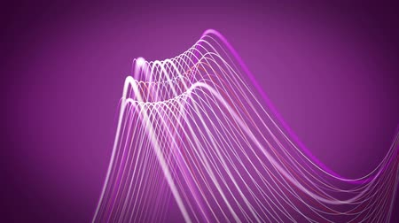 dinamik : Wonderful video animation with moving stripe wave object, loop HD 1080p