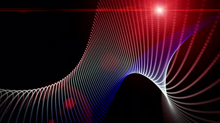 papel de parede : Futuristic video animation with moving stripe wave object and lights, loop HD 1080p
