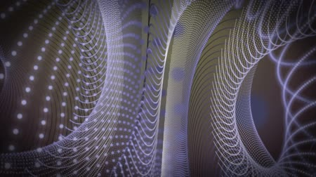 illúzió : Wonderful video animation with moving stripe wave object, loop HD 1080p