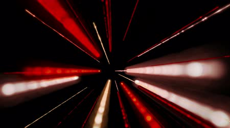 orange background : Futuristic video animation with moving light stripe object, loop HD 1080p