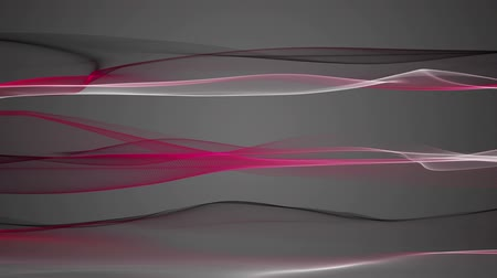gray background : Fantastic video animation with wave object in motion, loop HD 1080p