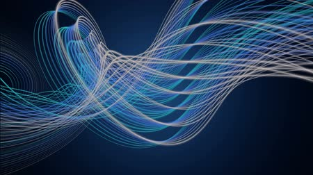 flowing lines : Futuristic video animation with stripe object in motion, loop HD 1080p