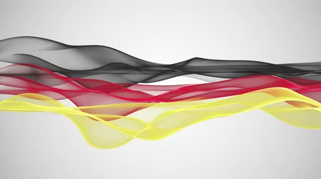 piłka ręczna : Wonderful german color flag video animation for sport events, loop HD 1080p