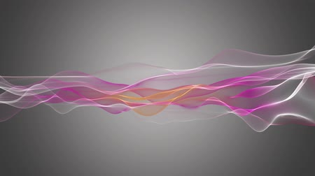 ondas : Fantastic video animation with wave object in motion, loop HD 1080p