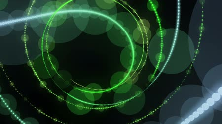 fascination : Futuristic video animation with particle stripe object in motion, loop HD 1080p