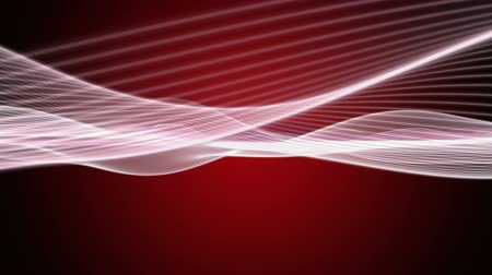 red background : Fantastic video animation with wave object in motion, loop HD 1080p
