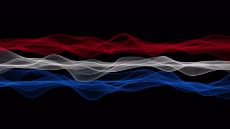 Wonderful dutch color wave flag video animation for sport events, 4096x2304 loop 4K