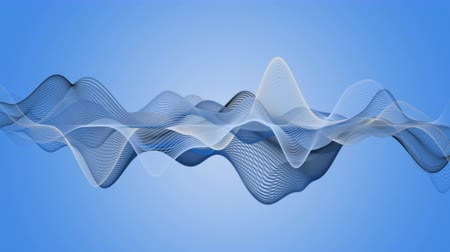 brain waves : Fantastic video animation with wave object in motion, 4096x2304 loop 4K