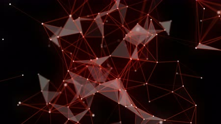 Futuristic plexus video animation with glowing triangles in slow motion, 4096x2304 loop 4K