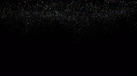 Fantastic abstract video animation with glittering particles in slow motion, 4096x2304 loop 4K