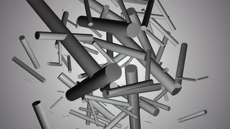 бесшовный : Fantastic video animation with abstract 3D objects in slow motion, 4096x2304 loop 4K