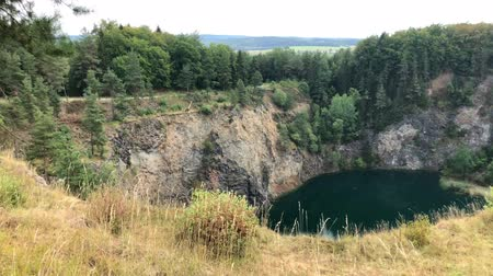 Hoewenegg lake and nature reserve in a former volcanic crater