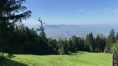 View from the mountain Pfaender in Austria on Lake Constance