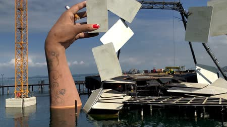 Deconstruction of the lake stage in Bregenz, Austria
