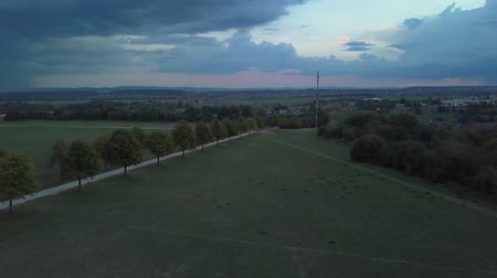 Aerial view from Scharnhauser Park near Stuttgart Stock mozgókép