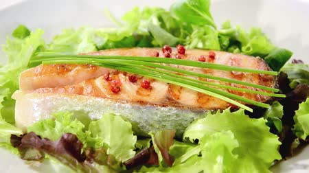 placas : grilled salmon