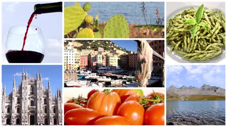 szicília : wonderful italy, collage Stock mozgókép