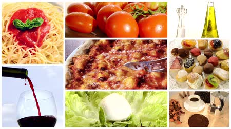 İtalyan : italian food, collage