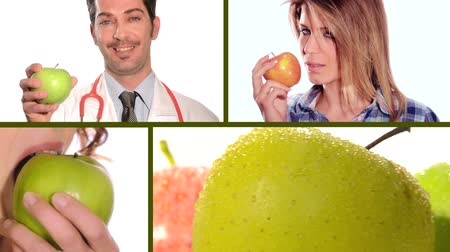 eat background : an apple a day keeps the doctor away