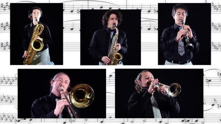 caz : brass band collage