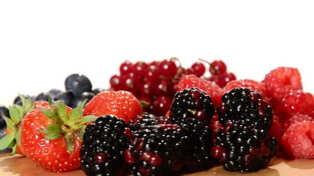 vitaminic : red fruits Stock Footage