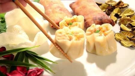 câmara : chinese dumplings, spring rolls and shrimp chips