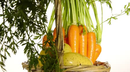 vitaminic : carrots and potatoes Stock Footage