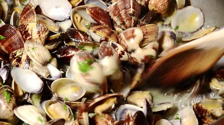 italian food : seafood, clams