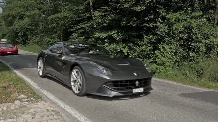 prestigious : Ferrari S.p.A. is an Italian luxury sports car manufacturer based in Maranello. Ferrari road cars are generally seen as a symbol of speed, luxury and wealth. Stock Footage