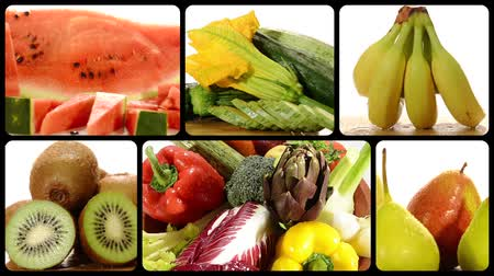 vitaminic : fruit and vegetables composition Stock Footage