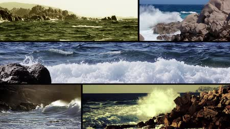 primordial : Stormy sea power and beauty Stock Footage