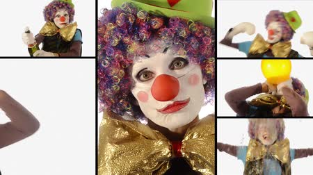 palhaço : Bumbling adorable clowns performances
