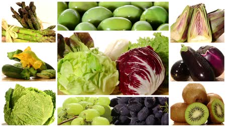 фрукты : a collage including green and red vegetables and fruits