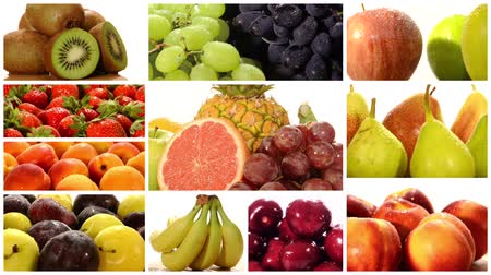 vitamin : Diverse fruits montage