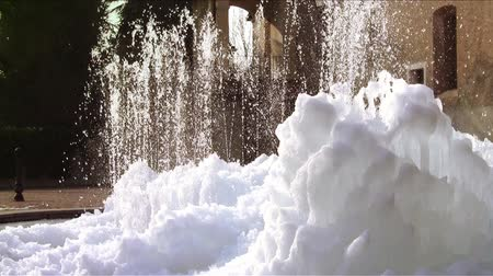 alpi : a frozen fountain in an italian country