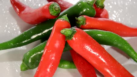 peper : Hot Chili Peppers Rotating Stock Footage