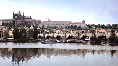 prague bridge : prague and the moldova river