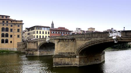 firenze : Italy, Florence, Typical Cityscape, ponte vecchio