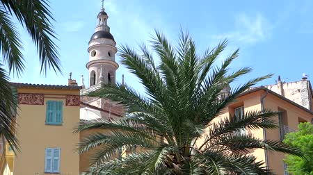 menton : glimpse of Menton, French Riviera Stock Footage