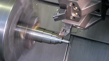 moagem : metalworking detail, computerized machine at work