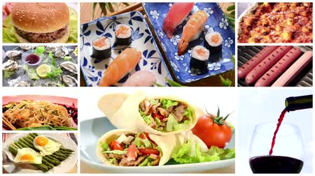 kolaj : a collage including international cuisine recipes and ingredients